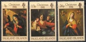 1981 Falkland Islands 333-335 Artist / G. Reni