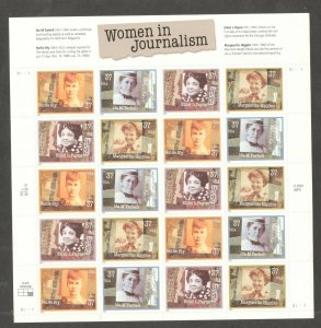 3665-68 Women In Journalism Sheet Of 20 Mint/nh Selling At Face
