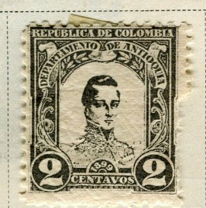 COLOMBIA ANTIOQUIA; 1899 early Bolivar issue Mint hinged 2c. value