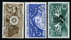 HERRICKSTAMP TURKEY Sc.# 1127-29 1954 NATO Mint NH Scott $20.00