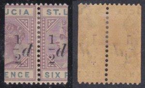 St. Lucia #41 MH pair CV $65