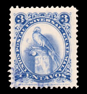 GUATEMALA STAMP 1957. SCOTT # 369. USED. # 5