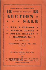 Ferryman: Sale # 18  -  U.S.A & Foreign, Airmail Covers, ...