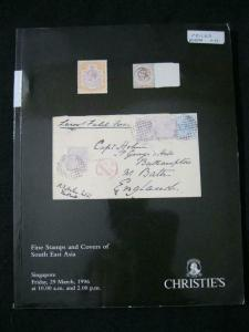 CHRISTIE'S AUCTION CATALOGUE 1996 FINE STAMPS AND COVERS OF SOUTH EAST ASIA