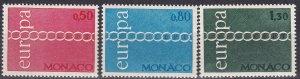 Monaco #797-9  MNH CV $15.00 (Z5324)