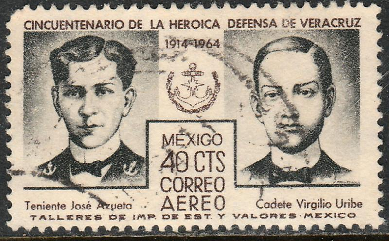 MEXICO C284 50th Anniversary Defense of Veracruz Used (1163)