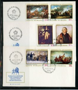 LOT OF SIX US BICENTENNIAL FOREIGN FIRST DAY COVERS AS SHOWN