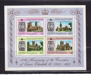 Tuvalu 84a Set MNH Cathedrals (D)