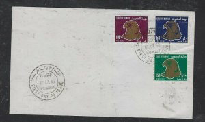 KUWAIT COVER (PP1304BB) 1990  BIRDS SET OF 2 UNADDRESSED FDC.  SCARCE