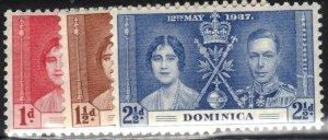 Dominica Scott #94-96 MLH Complete Set