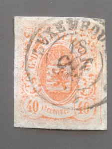 Luxembourg 12 F-VF used. Scott $ 240.00