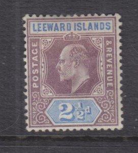 LEEWARD ISLANDS, 1902 KEVII,CA, 2 1/2d. Purple & Ultramarine, lhm.