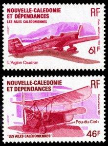 New Caledonia 1983 Scott #C188B-C188C Mint Never Hinged