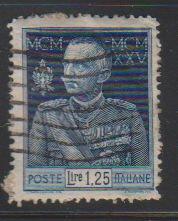 Italy 177 King Victor Emmanuel III 1926