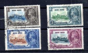Hong Kong KGV 1935 Silver Jubilee good used set SG133-136 WS17220