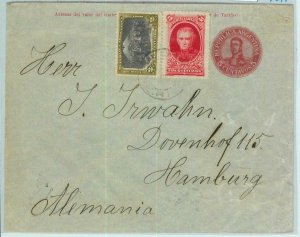 94009 - ARGENTINA - POSTAL HISTORY - STATIONERY COVER to GERMANY + stamps 1911