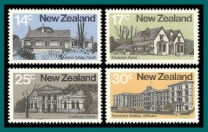 New Zealand 1980 Architecture, MNH #707-710,SG1217-SG1220