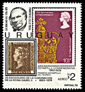 Uruguay C439b, MNH, Centennial of Death of Sir Rowland HIll