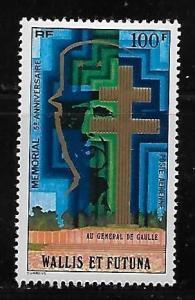Wallis and Futuna Islands C72 de Gaulle Memorial single MNH