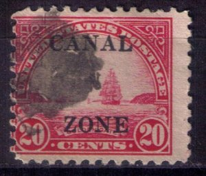 CANAL ZONE Sc #92 Used Carmine Rose 20c Fine