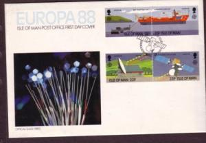 Isle of Man Sc 363-6 1988 Europa  stamps FDC