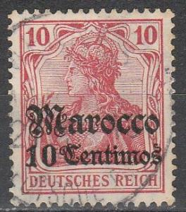 Germany Off In Morocco  #35  F-VF Used  (S4274)