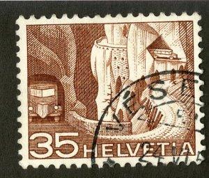 SWITZERLAND 335a USED SCV $2.40 BIN $1.00 TRANSPORTATION