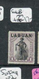 LABUAN (P1811B) ON NORTH BORNEO 1C SG 62B  MOG