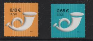 Estonia Sc 832-3 2017 Posthorns stamp set mint NH