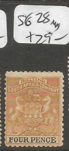 Rhodesia SG 28 MOG (8cmb)