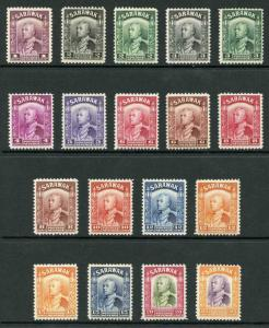 Sarawak SG106/117 1934 set to 25c M/Mint Cat 91.25