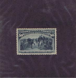 SC# 240 UNUSED OG H 50c RECALL OF COLUMBUS, 1893, XF-SUPERB, LOOK!