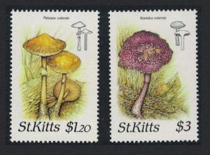 St. Kitts Fungi 2v SG#243+245