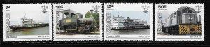 Zaire 1985 National Transit Authority Train locomotive Ship Sc 1216-19 MNH A1262