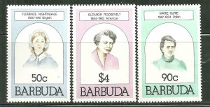 Barbuda MNH 474-5,477 Famous Women