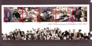 Guernsey Sc 557a 1995 Liberation stamp sheet mint NH