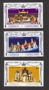 Grenada Grenadines MNH 213-5 Silver Jubilee QE II 1977
