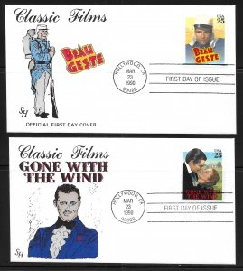 USA 2445-8 Classic Films Steve Harkness First Day Cover FDC (z8)