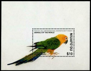 HERRICKSTAMP NEW ISSUES NIUAFO'OU Parrot Souvenir Sheet