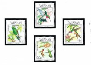 Bahamas 668-71 MNH 1989 Hummingbirds