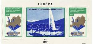 Hungary - Euro Peace Conference 2 Stamp  S/S 8C-002