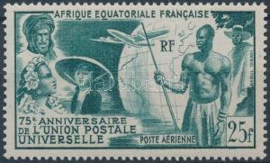 French Equatorial Africa stamp 75th anniversary of UPU 1949 MNH Mi 284 WS181174