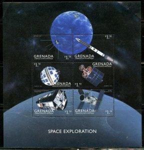 GRENADA SPACE EXPLORATION SHEET  MINT NH