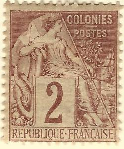 French Colonies (Scott #47) Fine Mint...Buy before prices go up again!