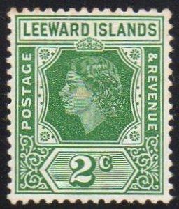Leeward Islands 1954 2c green MH