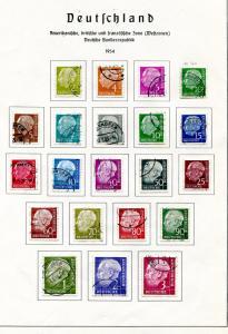 Germany 1952-54 used sets VF