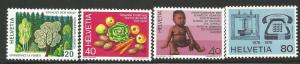 SWITZERLAND 610-613, MNH, C/SET OF 4 STAMPS, AS PICTURED
