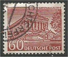 BERLIN, 1949, used 60pf Buildings Scott 9N54
