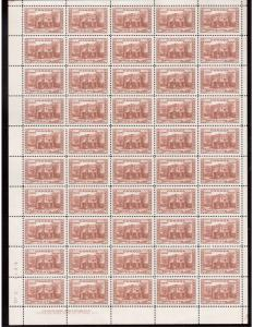 Canada #243 Very Fine Never Hinged Plate #2 LL Full Sheet Of 50