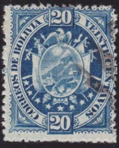 BOLIVIA  An old forgery of a classic stamp.................................69150